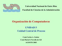 Organización de Computadoras - UNIDAD 5