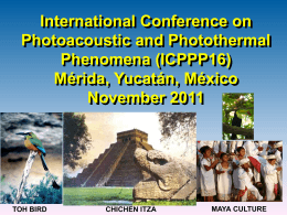 15th International Conference on Photoacoustic and Photothermal