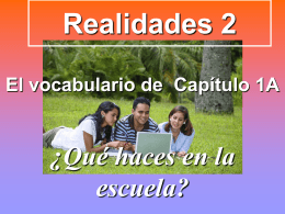 Vocabulary Power Point  - Para Empezar