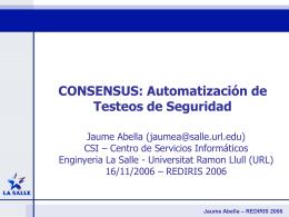 Jaume Abella – REDIRIS 2006