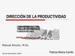 MEDICION DE LA PRODUCTIVIDAD