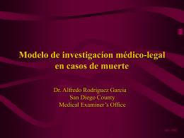 MODELO DE INVESTIGACIOM MEDICO LEGAL