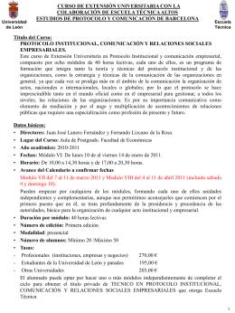 Módulo VI - Protocolo Institucional