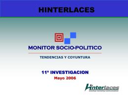 11º MONITOR SOCIO-POLITICO HINTERLACES - E