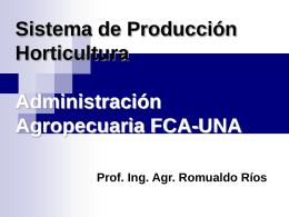 Sistema de Producción Horticultura Administración Agropecuaria
