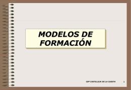 Modelo de formación propuesto. Diciembre 2006.