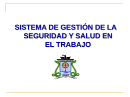 socializacion SIGSST - Sistema Institucional de Gestión de la