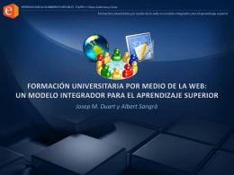 Formacion universitaria por medio de la web