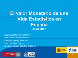 El valor monetario de una vida estadística en España