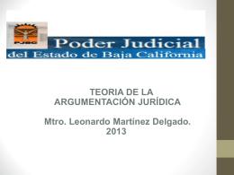 Panorama General de la Argumentación Jurídica