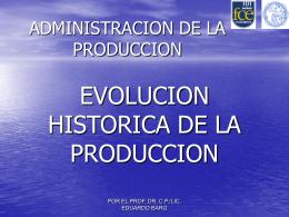 1: Evolución Histórica de la Producción