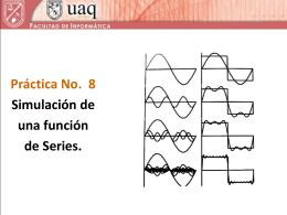 Simulación de una función de Series.