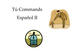 Tú Commands - Harrison High School