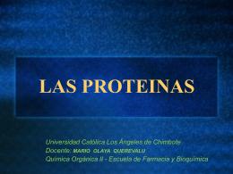 PROTEINAS - farmacia y bioquimica