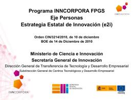 Diapositiva 1 - Ministerio de Economía y Competitividad