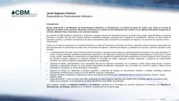 CV Javier Salguero 01302012
