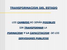LA ESCUELA DE FUNCIONARIOS PUBLICOS EL ESTADO