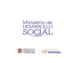 Microcréditos 16032009 - Gobierno de la Provincia de Córdoba