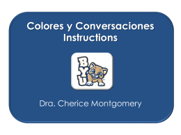 Colores y Conversaciones Instructions
