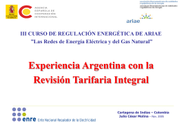 """Marco Regulatorio del Sector Eléctrico Argentino"""