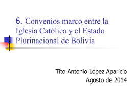 convenios marco iglesia catolica y bolivia