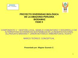 Marco conceptual y metodológico del Componente 3