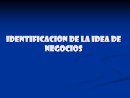 identificacion de la idea de negocios problemas y soluciones