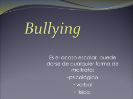 Bullying - Alfabetizacion-Digital-CSSM