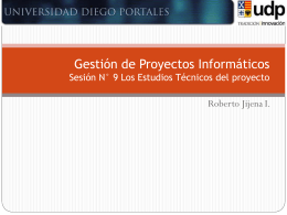 09 GPI_Los Estudios Tecnicos del proyecto