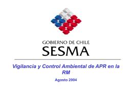 Trabajo SESMA - Agua Potable Rural Chile