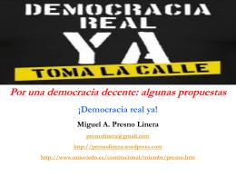 algunas propuestas para una democracia decente
