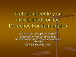 La declaración de principios y derechos fundamentales de la OIT