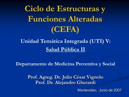 Indicadores de salud I 2007