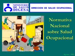 GESTION 2008 NORMAS TECNICAS EN SALUD OCUPACIONAL