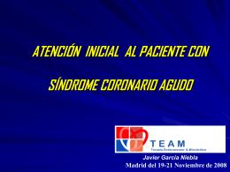 Atención inicial al paciente con síndrome coronario agudo