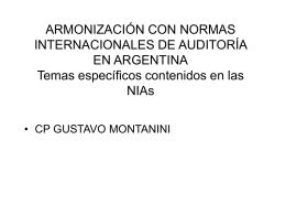 Armonización con Normas Internacionales de Auditoría en Argentina