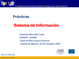 lcg-infosites - EELA Documents