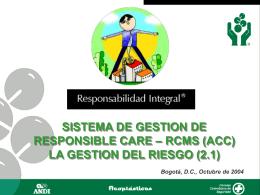 LA GESTION DEL RIESGO - Responsabilidad Integral Colombia