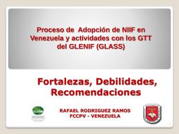 ADOPCIÓN DE NIIF EN VENEZUELA Uso de IFRS en Venezuela