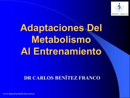 Adaptaciones - deporte y medicina
