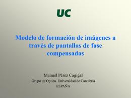 Modelo formación imágenes - Universidad de Cantabria
