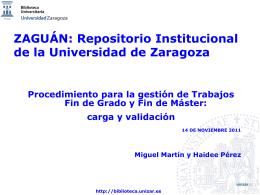 Zaguán: validación de trabajos académicos
