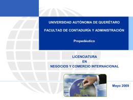 entorno económico - FCA - Universidad Autónoma de Querétaro