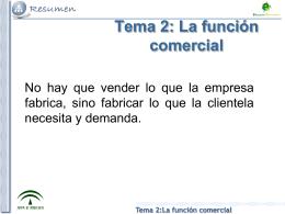 Tema 2:La función comercial Producto