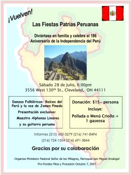 Las Fiestas Patrias Peruanas Diviértase en familia y