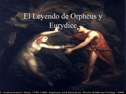 El Leyendo de Orpheus y Eurydice