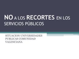 situacion universidades publicas comunidad valenciana