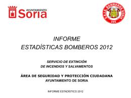 Memoria Anual 2012 Bomberos