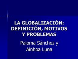 la globalización - DESDEELPRINCIPIO
