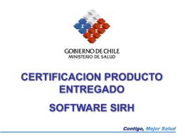 procedimiento certificacion producto entregado